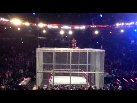 Crowd Video Punk & Ryback Climb The Cell