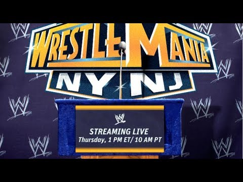 WrestleMania 29 Press Conference – Live Stream & Chat