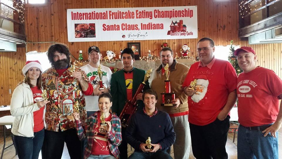 Mick Foley - Fruitcake eating contest