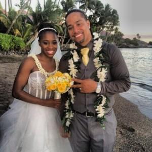 Naomi & Jimmy Uso wedding