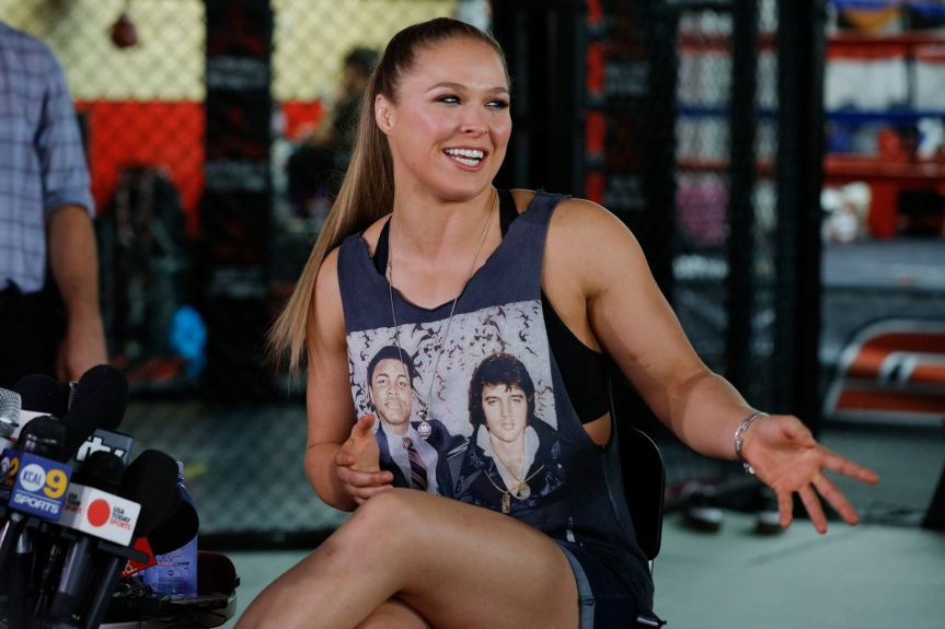 Ronda Rousey On Set Of TV Show 'Blindspot'