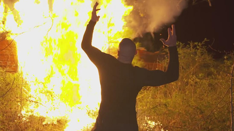 Randy Orton Burns Down The Wyatt Family Compound (Video)