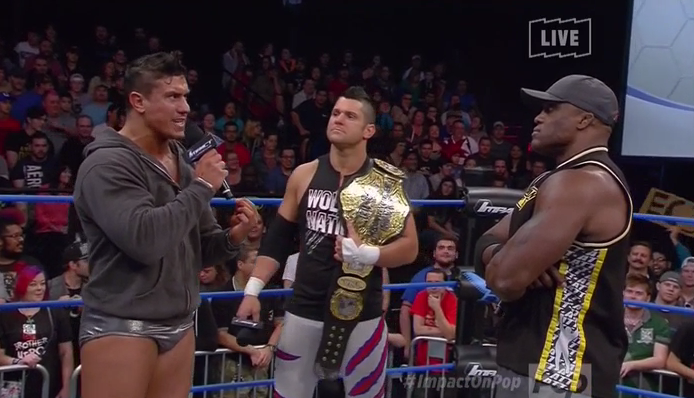 Image result for Lashley, EC3 and Eddie Edwards